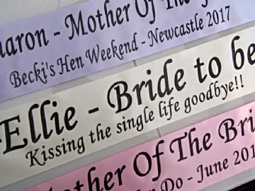 Personalised Hen Night Sashes